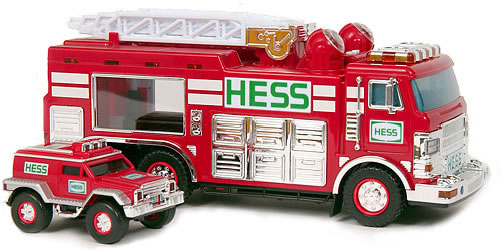 2005 Hess Emergency Truck with Rescue Vehicle - MIB from Case