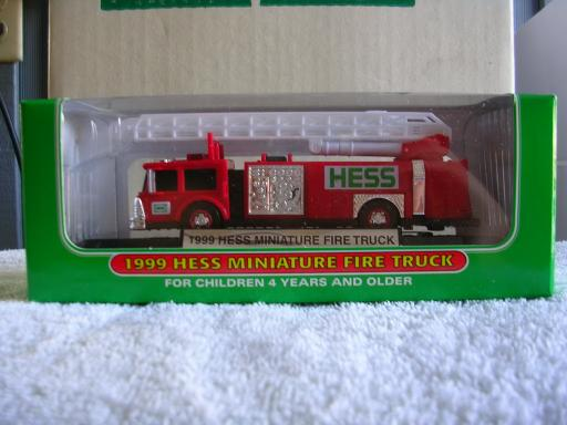 1999 Hess Mini Fire Truck Second in Series