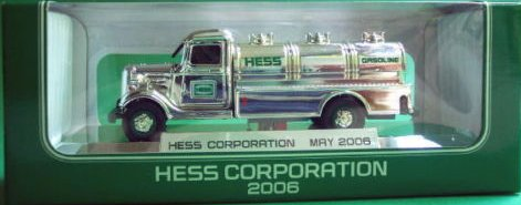 Chromed Special Edition 2006 Hess Truck made for VIP's of Hess to celebrate the NYSE Name & sybol change.