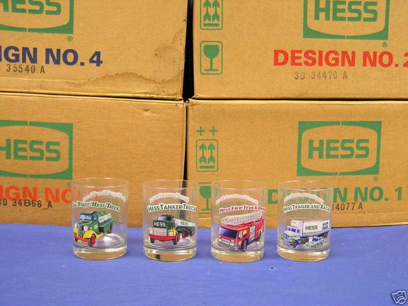 ACSTrucks.com - 4 Individual Hess Collector Glasses from 1996 - Pic Not Available