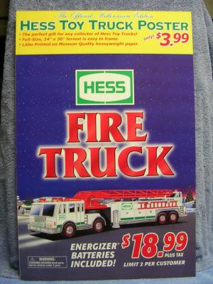 ACSTrucks.com - 2000 Hess Truck Window Sign