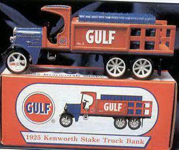 1997 Gulf 1925 Kenworth Stake Truck with barrels